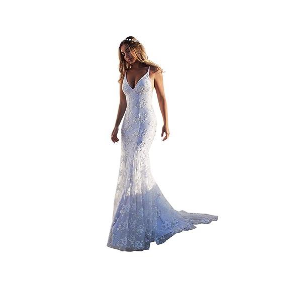 Mishuo Vestidos De Novia Blancas Sexy Elegantes Ajustados