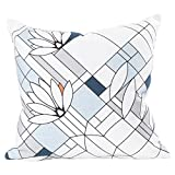 KAF Home Frank Lloyd Wright Printed Throw Pillow Cover 20 x 20-inch 100-Percent Cotton (Water Lilies)