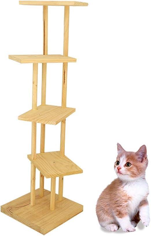 liangh Árbol para Gatos,Rascador Trepar Madera Juguetes con 4 ...