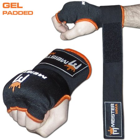 Wear Hand Wraps - Meister Gel-Padded ProWrap Hand Wrap Gloves (Pair) - Large/X-Large