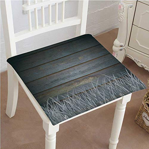 Mikihome Classic Decorative Chair pad Seat Antique Old Planks American Style Western Rustic Wooden with Thick Growth of Grass Cushion with Memory Filling 32''x32''x2pcs by Mikihome