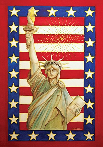 Lady Liberty Patriotic Garden Flag 4th of July Statue of Liberty 12.5