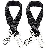 Etekcity 2 Pack Pet Dog Car Seat Belt, Nylon Material, 16-26in Adjustable, Black