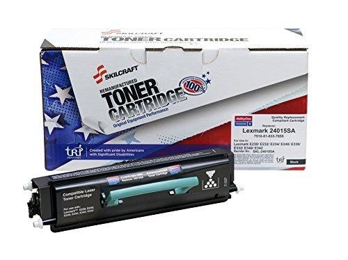24015sa Toner - AbilityOne - Lexmark Compatible – Toner Cartridge OEM # 24015SA/24035SA, 2500 Yield, Black 7510-01-633-7855