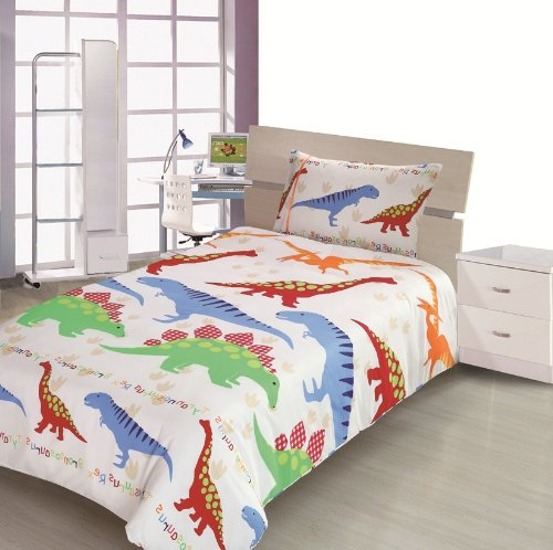 Children s Kids SINGLE BED SIZE DINOSAUR DESIGN BOYS DUVET COVER AND  PILLOWCASE SET By Viceroybedding  Amazon co uk  Kitchen   Home. Children s Kids SINGLE BED SIZE DINOSAUR DESIGN BOYS DUVET COVER