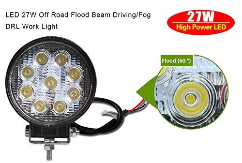 27w Led Work Light : Led light bar ledkingdomus w quot pod flood