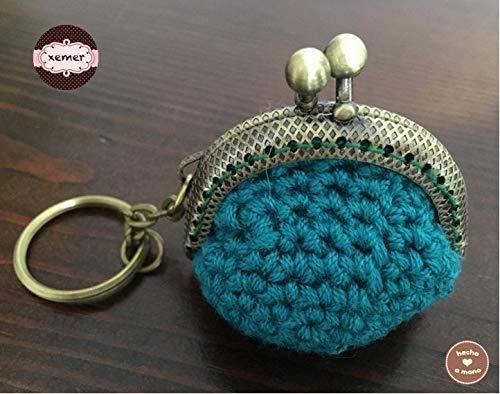 Bolsito Llavero Crochet Handmade Hecho a Mano Bolso Mujer ...