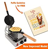 TOP Version Puffle Waffle Maker Professional Rotated Nonstick FY-6 NP-547(Grill / Oven for Cooking Puff, Hong Kong Style, Egg, QQ, Muffin, Cake Eggettes and Belgian Bubble Waffles) (110V with US Plug)