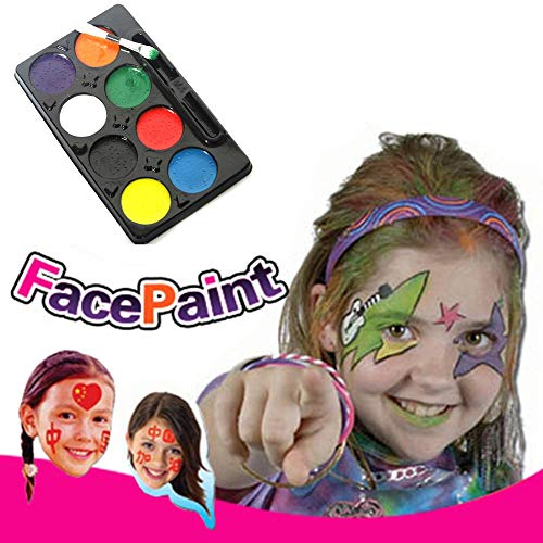 ZCON DIY Make Up Cosplay Clown Painting Palette Face Body Paint 8 Colors Halloween -