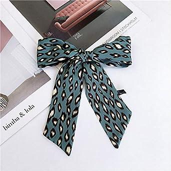 AFHT-Fashion Small Skinny Scarf Hair Bag Ribbon Leopard Print ...