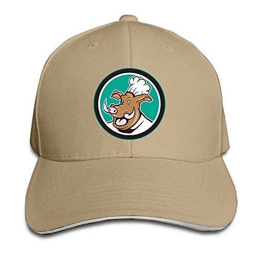 Jugs Soccer Machine (Grass8 A Rhinoceros In A Chef's Hat Snapback Sandwich Cap Unisex Baseball Cap Hats Adjustable Peaked Trucker Cap For Men and Women One Size Natural)