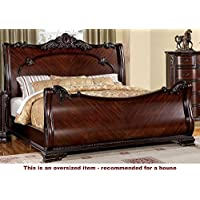 247SHOPATHOME Idf-7277EK Sleigh-Beds, King, Cherry