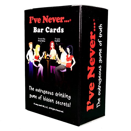 Couples Table Topics (I've Never Bar Cards, The Outrageous Drinking Game of Hidden Secrets, This Game will Shock You, Surprise You, and Make You Laugh Out Loud, Includes 104 Questions and 10 Blank Cards)