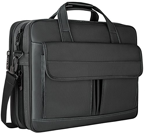 Laptop Bag 15.6 Inch,Water Resistant Briefcase, 15inch Expandable Messenger Shoulder Bag with Strap, Nicedirect Carry On Handle Case for Computer/Notebook/Tablet for Business Men/Women, (Expandable Organizer Brief Bag)