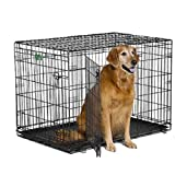 Midwest iCrate Double-Door Folding Metal Dog Crate, 42-Inch by 28-Inch by 30-Inch