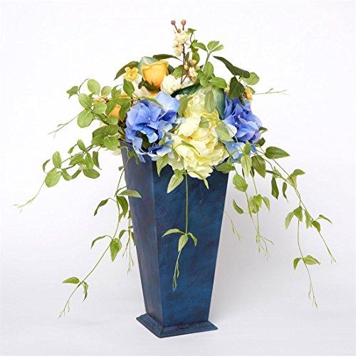 Brylane Home Les Fleur Arrangement With Planter (Blue Yel...