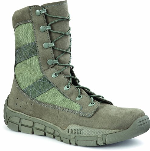 Light Green Footwear (Rocky Mens Sage Green Vegan Lightweight C4T Trainer Military Duty Boots 6.5 M)