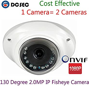 HD 1080P 2.0MP AHD camera 360 degree fisheye Panoramic IR Night Vision dome lens