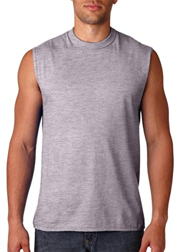 Jerzees Men's Advance Performance Sleeveless T-Shirt_XX-Large_Athletic Heather by Jerzees