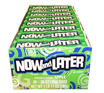 Now and Later Apple Flavored Candy Forty-Eight 4-Piece Bars