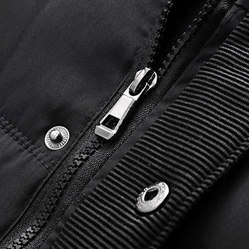 Épaississement Manteaux Hiver C Tops Manches Grande lin Coton Cols Day Warm Longues Capuche Hommes Noir De Outwears Mode Automne À Unicolore En Taille w8zEEqPxB