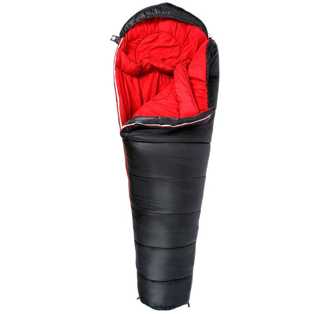 防水ミイラのキャンプの寝袋ハイキングのバックパックの登山の屋内および屋外の活動のための携帯用軽量の暖かい4季節の睡眠のマット (色 : ブラック, サイズ さいず : 1.5kg) B07QLSGZ8R ブラック 1.2kg 1.2kg ブラック