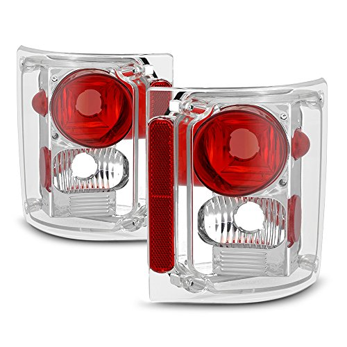 VIPMotoZ 1973-1987 Chevrolet GMC C/K 1500 2500 3500 Pickup Suburban Tail Lights - Metallic Chrome Housing, Driver and Passenger Side