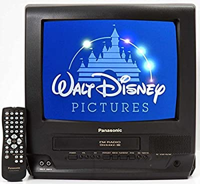 "Panasonic 13"" TV/VCR Combo + 12 Disney VHS Movies"