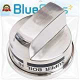 Ultra Durable EBZ37189611 Stainless Burner Control Knob Replacement part by Blue Stars - Exact Fit For LG Range, Stove