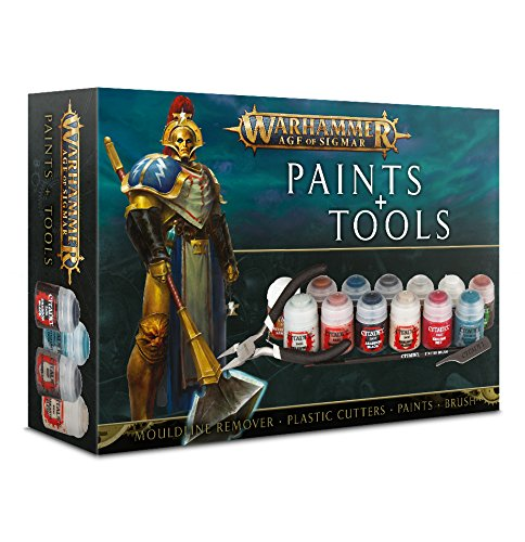 - Warhammer Age of Sigmar Paints + Tools Set