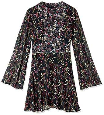 Cooper St Women's with A Kiss Flutter Sleeve Mini Dress, Print Dark, 10
