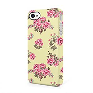 Vintage Floral Flowers Pattern Indie Tumblr Boho Hard Plastic iPhone 4 / iPhone 4S Phone Case Cover