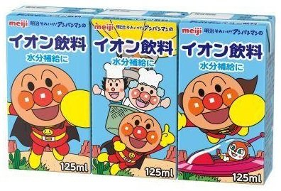 Meiji it go! Ion beverage 125mlX3 this X12 pack of Anpanman by Meiji