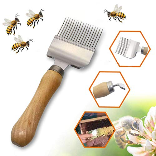 ️ Yu2d ❤️❤️ ️Stainless Steel Bee Hive Uncapping Honey Fork Scraper Shovel Beekeeping Tool ()