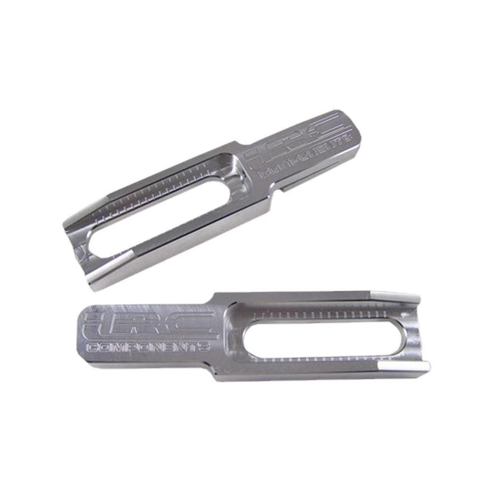Yana Shiki Y2666LRC Silver 4''-6'' Billet Swingarm Extension for Yamaha YZF-R1/R6