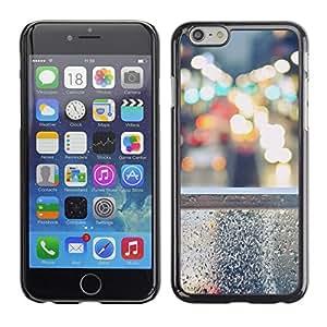 LECELL--Funda protectora / Cubierta / Piel For iPhone 6 -- Steet Bokeh --