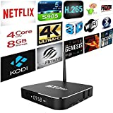 Tonbux 4K UHD Quad Core S905 Smart Android TV BOX KODI Box Streaming Media Player with KODI(XBMC) , Fully Loaded,Google Android 5.1
