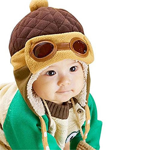 Creazy Cute Baby Infant Boy Girl Stripe Beret Cap Peaked Baseball Hat (Earflap 3)
