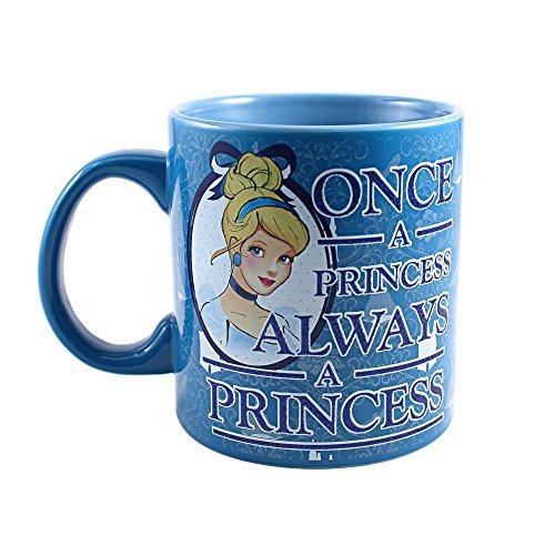 Silver Buffalo DQ3334G Disney's Princess Cinderella Jumbo Ceramic Glitter Mug, 20 oz, Multicolor
