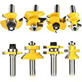 """AccOED 4Pcs/Lot Tongue & Groove and V-notch Router Bit Set 1/2"""" Shank Router Bit Set For Woodworking Tools"""