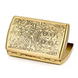 Carved Constantine Pure Copper Metal Cigarette Case Holder Holds 12 Cigarettes