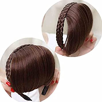 Amazon Com The New Wig Bangs Wig Ears Stain Women Girls Female