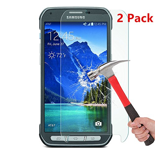 [2 Pack] Galaxy S5 Active Screen Protector, NEWELL™ 0.26mm Premium Tempered Glass Screen Protector for Samsung Galaxy S5