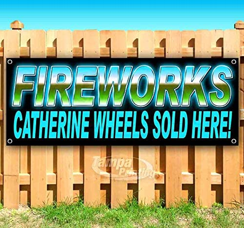 New Advertising Store Fireworks Extra Large 13 oz Heavy Duty Vinyl Banner Sign with Metal Grommets Many Sizes Available Flag,