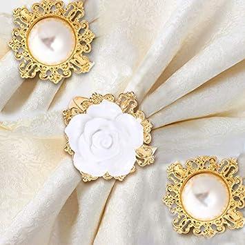 Amazon Wedding Decoration Reception Napkin Ring 1 Set Diamond