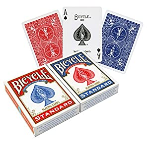 Bicycle Poker Size Standard Index Playing Cards (2-Pack) [Colors May