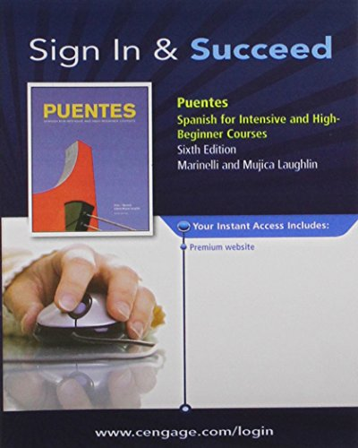 Premium Web Site 3-Semester Printed Access Card for Marinelli/Laughlin's Puentes, 6th