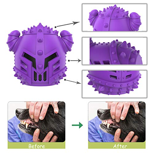 GeLar Dog Chew Toys, Dog Treat Dispenser Toy Durable Cool Interactive Dog Toys Teething for Boredom, Teeth Cleaning for Medium Small Dogs, Milk Flavor
