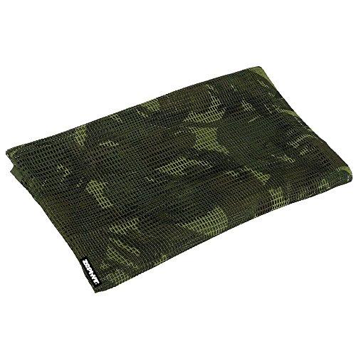 Zephyr Tactical Mesh Sniper Veil Desert Shemagh - Woodland Camo