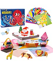 Toddler Learning Toys for 3 Year Olds Origami Paper for Kids educational toys for 4 year old Origami Kit for Kids Ages 8-12 Origami Book STEM Activities for Kids Ages 5-7 144 Colored Paper 72 Patterns